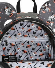 Load image into Gallery viewer, Loungefly Disney Mickey Minnie Halloween Vamp Witch AOP Bundle (Backpack and Wallet)