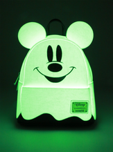 Load image into Gallery viewer, Loungefly Disney Mickey Ghost Mini Backpack - GLOWS IN THE DARK - Glowing