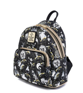 Loungefly Disney Nightmare Before Christmas Tarot Card All Over Print Mini Backpack