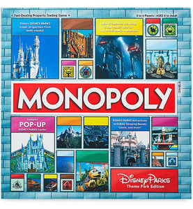 Disney Parks Theme Park Edition Monopoly Game