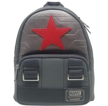 Load image into Gallery viewer, Loungefly Marvel Winter Soldier Cosplay Backpack Front