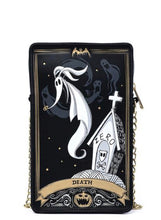 Load image into Gallery viewer, Loungefly Disney Nightmare Before Christmas Tarot Card Passport Bag