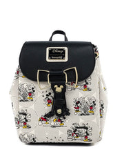Load image into Gallery viewer, Loungefly Disney Minnie Mouse Bow Hardware All Over Print Backpack front