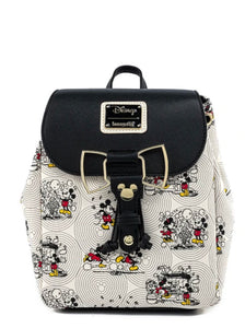 Loungefly Disney Minnie Mouse Bow Hardware All Over Print Backpack front