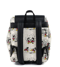 Load image into Gallery viewer, Loungefly Disney Minnie Mouse Bow Hardware All Over Print Backpack Back