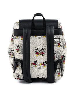 Loungefly Disney Minnie Mouse Bow Hardware All Over Print Backpack Back