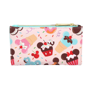 Loungefly Disney Mickey and Minnie Mouse Sweets Flap Wallet - Pre-Order February