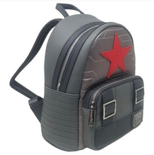 Load image into Gallery viewer, Loungefly Marvel Winter Soldier Cosplay Backpack side