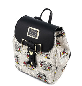Loungefly Disney Minnie Mouse Bow Hardware All Over Print Backpack side