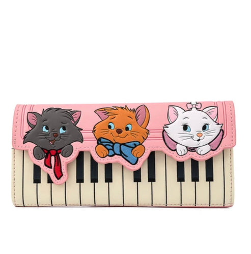 Loungefly Disney Aristocats Piano Kitties Trifold Wallet Front