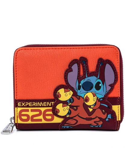 Loungefly Lilo and Stitch Experiment 626 Zip Around Wallet Front
