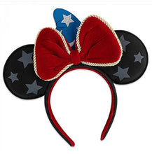 Load image into Gallery viewer, Loungefly Disney Sorcererer Mickey Ears and Handband Front