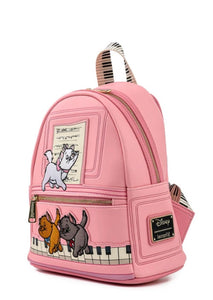 Loungefly Disney Aristocats Piano Kitties Mini Backpack side