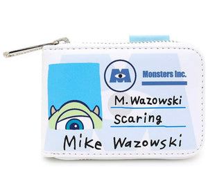 Loungefly Pixar Monster Inc. Mike & Sully Accordian Cardholder Front