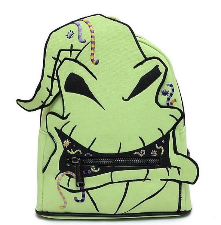 Loungefly Disney Nightmare Before Christmas Oogie Boogie Creepy Crawlies Mini Backpack Front View