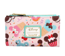 Load image into Gallery viewer, Loungefly Disney Mickey and Minnie Mouse Sweets Flap Wallet - Pre-Order February