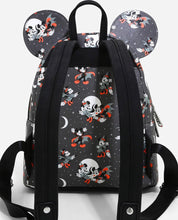 Load image into Gallery viewer, Loungefly Disney Mickey Minnie Halloween Vamp Witch AOP Mini Backpack
