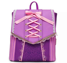 Load image into Gallery viewer, Loungefly Disney Rapunzel Dress Cosplay Backpack