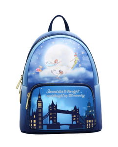 Loungefly Disney Peter Pan Second Star Glow in the Dark Stars Mini Backpack - Pre-Order February