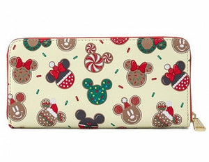 Loungefly Disney Christmas Mickey and Minnie Cookie Wallet Back