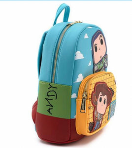 Loungefly Pop! Disney Pixar Toy Story Buzz and Woody Mini Backpack side