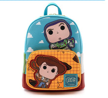 Load image into Gallery viewer, Loungefly Pop! Disney Pixar Toy Story Buzz and Woody Mini Backpack Fron