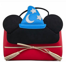 Load image into Gallery viewer, Loungefly Disney Sorcererer Mickey Cosplay Crossbody Front