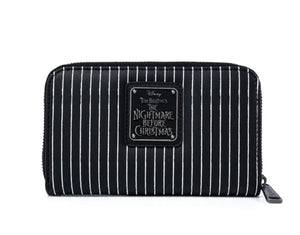 LOUNGEFLY X DISNEY THE NIGHTMARE BEFORE CHRISTMAS JACK AND SALLY SIMPLY MEANT TO BE ZIP AROUND WALLET Rear View