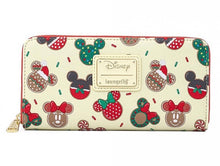 Load image into Gallery viewer, Loungefly Disney Christmas Mickey and Minnie Cookie Wallet Front