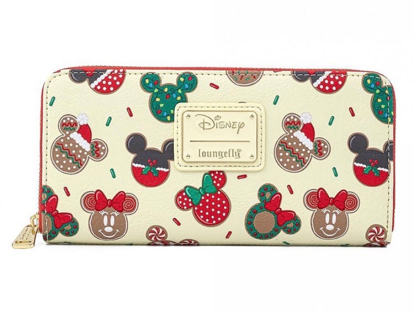 Loungefly Disney Christmas Mickey and Minnie Cookie Wallet Front