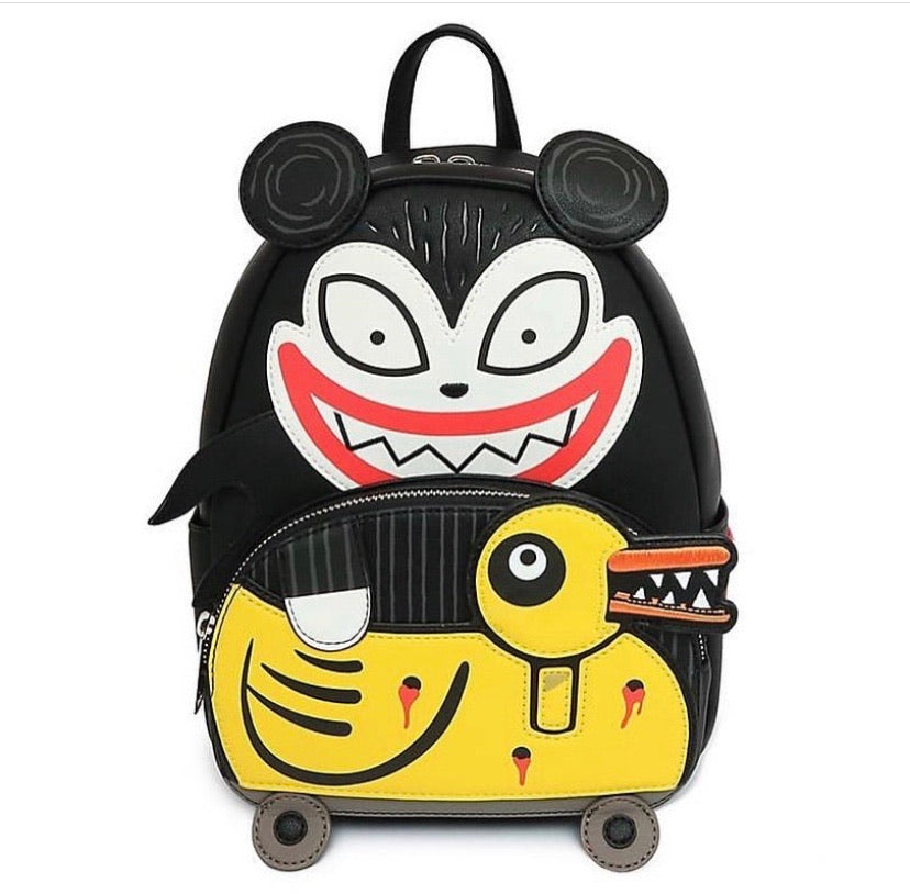 Loungefly Disney NBC Scary Teddy and Undead Duck Mini Backpack