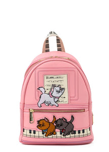 Loungefly Disney Aristocats Piano Kitties Mini Backpack front