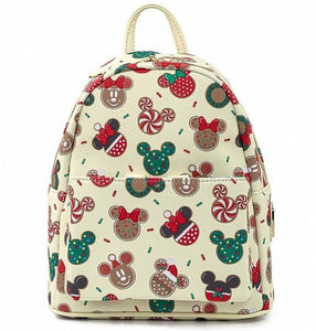Loungefly Disney Christmas Mickey and Minnie Cookie Backpack No Ears