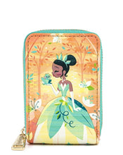 Load image into Gallery viewer, Loungefly Disney Princess and the Frog Tiana Accordion Wallet Front