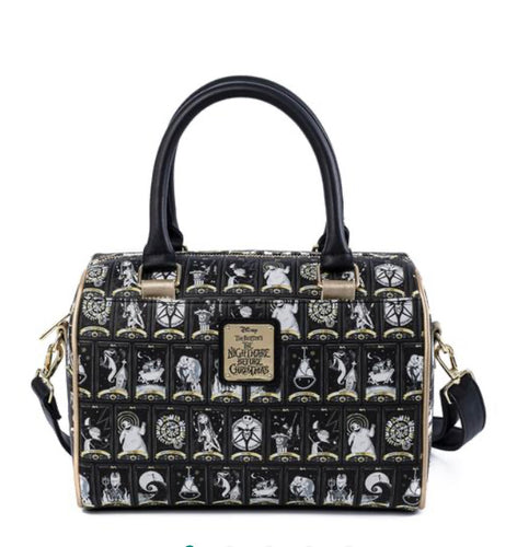 Loungefly Disney Nightmare Before Christmas Tarot Card All Over Print Crossbody Bag