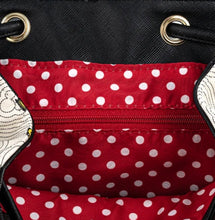 Load image into Gallery viewer, Loungefly Disney Minnie Mouse Bow Hardware All Over Print Backpack inside