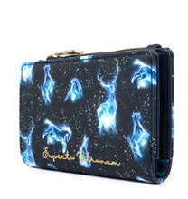 Load image into Gallery viewer, Loungefly Harry Potter Expecto Patronum All Over Print Flap Wallet side view