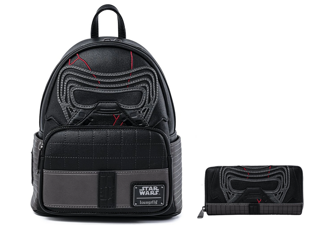 Loungefly Star Wars Kylo Ren Cosplay Mini Backpack and Wallet