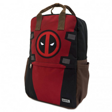 Load image into Gallery viewer, Loungefly Marvel Deadpool Cosplay Square Nylon Backpack Side
