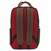 Load image into Gallery viewer, Loungefly Marvel Deadpool Cosplay Square Nylon Backpack Back