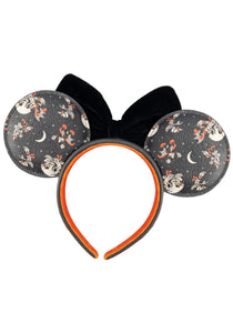 Loungefly Disney Mickey Minnie Halloween Vamp Witch AOP Headband Back