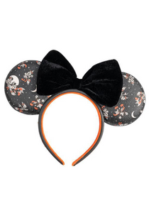 Loungefly Disney Mickey Minnie Halloween Vamp Witch AOP Headband Front