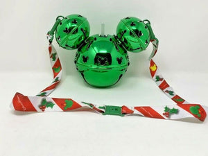 2020 Christmas Holiday Green Mickey Mouse Jingle Bell Light Up Sipper