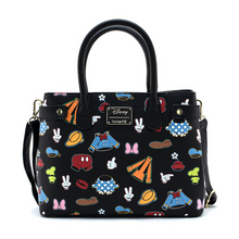 Load image into Gallery viewer, Loungefly Disney Sensational 6 Outfits AOP Crossbody Bag