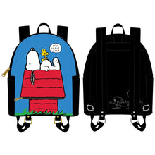 Load image into Gallery viewer, Loungefly Peanuts Snoopy Doghouse Mini Backpack