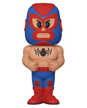 Funko Vinyl SODA: Luchadores- Spider-Man w/Chase (Metallic) - Pre-Order March