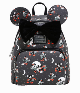 Loungefly Disney Mickey Minnie Halloween Vamp Witch AOP Mini Backpack