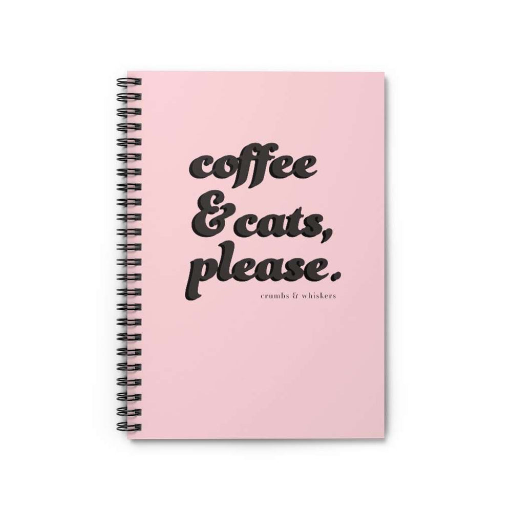 Coffee & Cats (Black Bubble) | Notebook