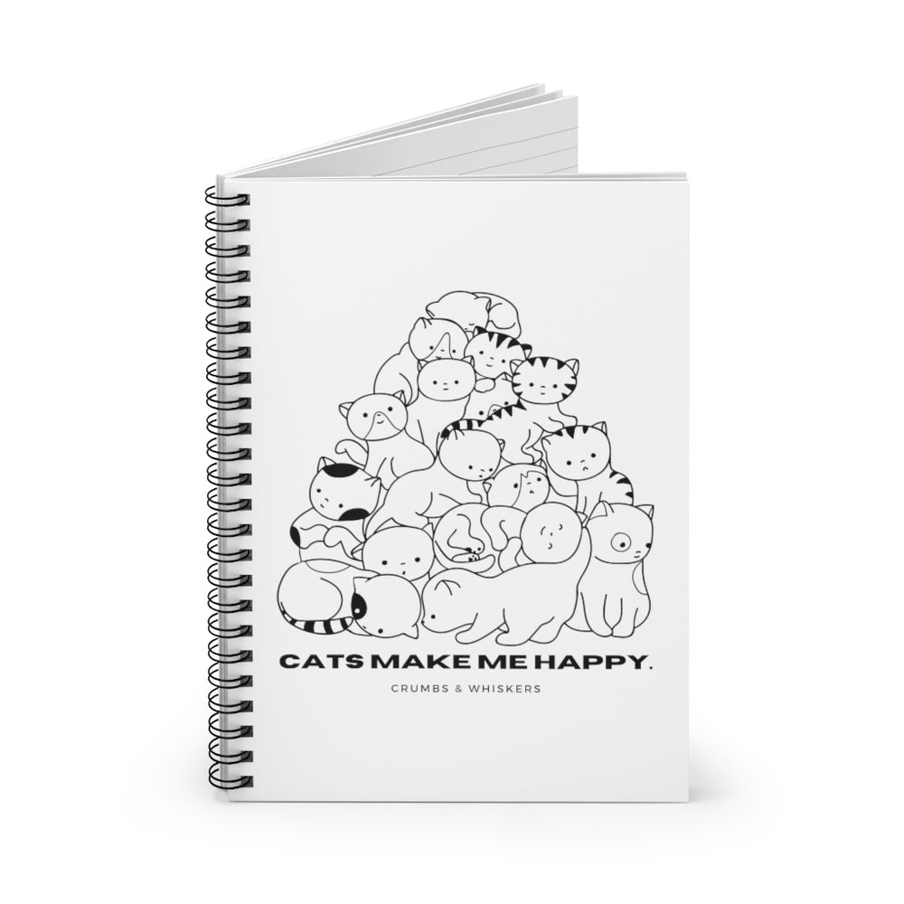 Cats Make Me Happy | Notebook
