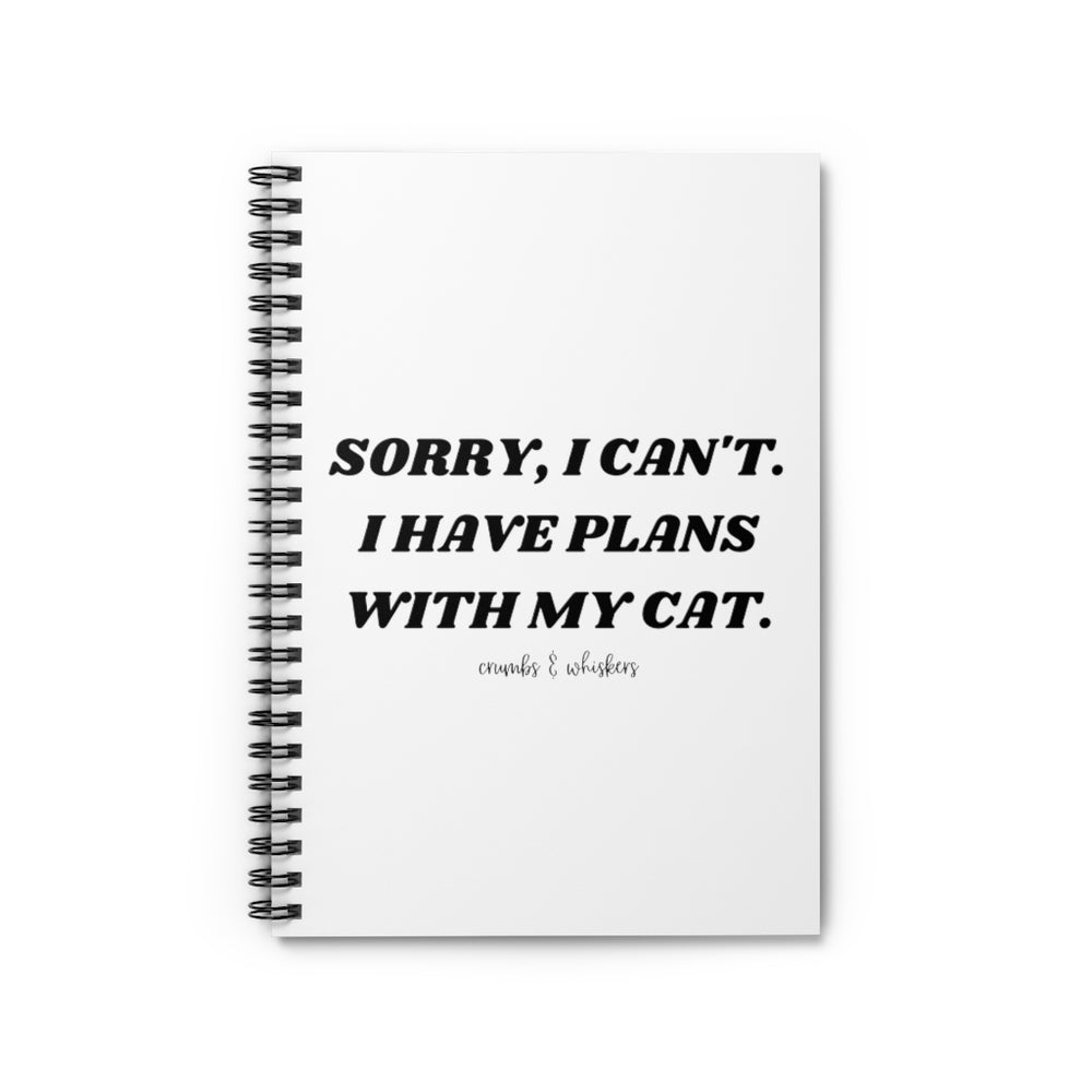 Plans With My Cat | Notebook